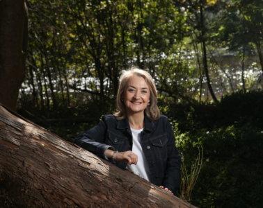 Dr. Linda Worrall-Carter wearing denim jacket