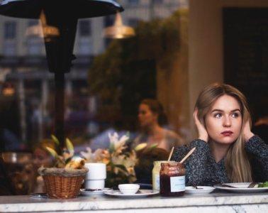 sad girl breakfast cafe window glass